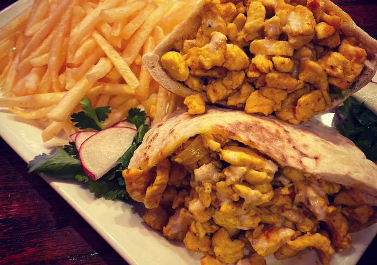 caspian-kabab-chicken-shawarma-sandwhich-fries